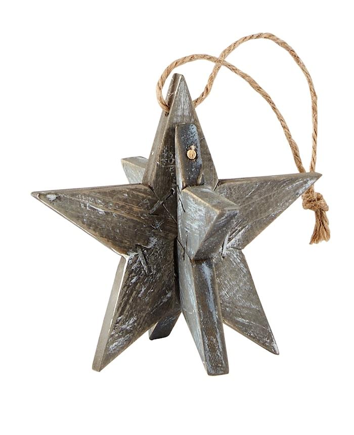 Julgranspynt Stjärna Grå 10x10x10 cm