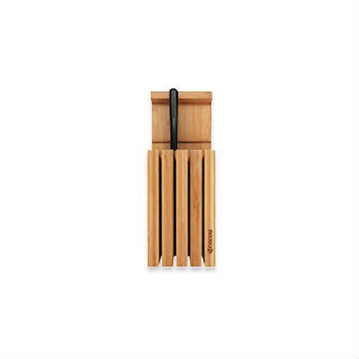 Knivblok til 4 knive, bambustræ