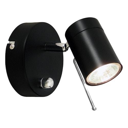 Correct Vägglampa 1-låg - Svart
