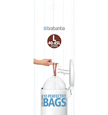 Rubbish bags L 45L [10 bags] White