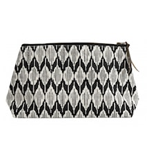 Toilet bag, Ikat, black/off white