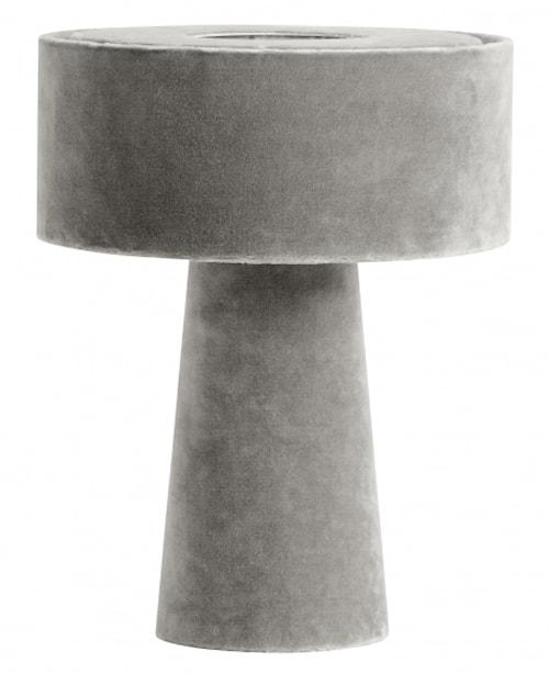 MUSHROOM table lamp, grey velvet
