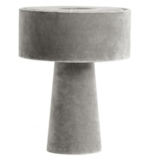 MUSHROOM table lamp, grey velvet