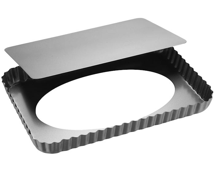 Silvertop Piirakkavuoka hopea 32x22 cm