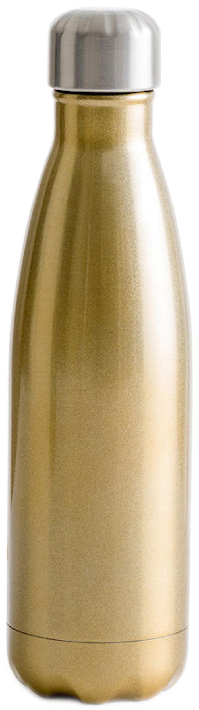 Stålflaske guld