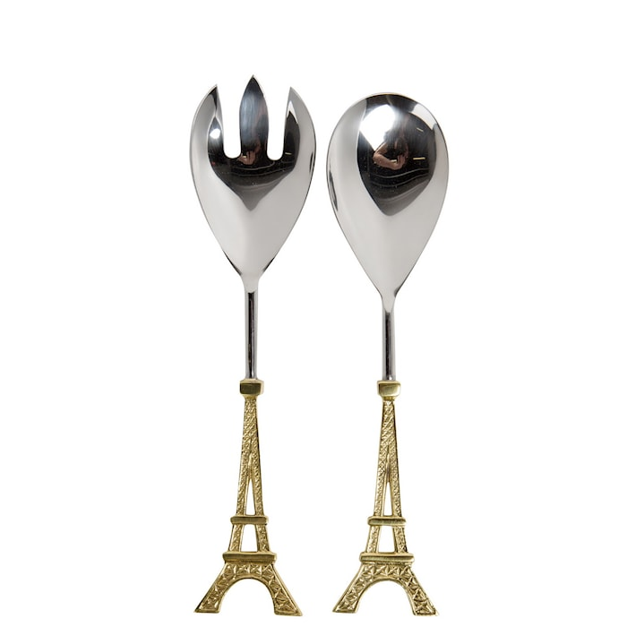 Paris Salladsbestick Guld