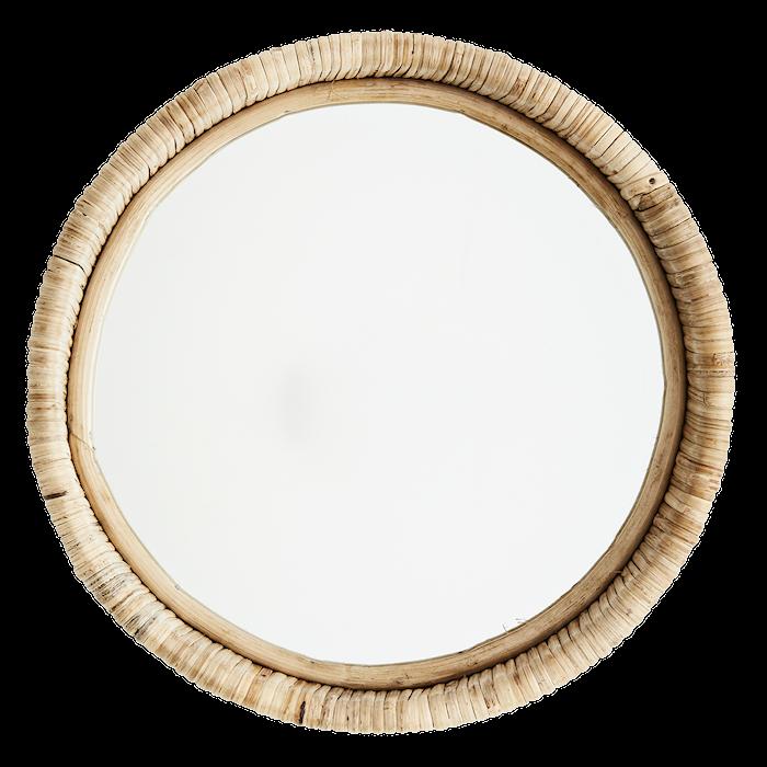 Hanging mirror w/ velvet frame