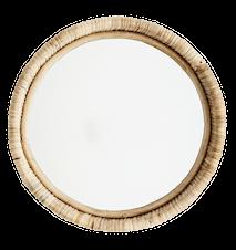 Hængende spejl m/ velour ramme