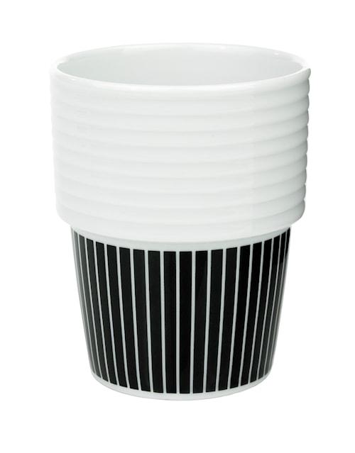 Filippa K Te- & kaffemugg Pinstripes/svart 2-pack
