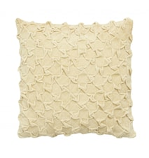Cushion cover, creamy yellow, velvet