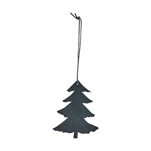 Ornament Pine 8 cm - Svart