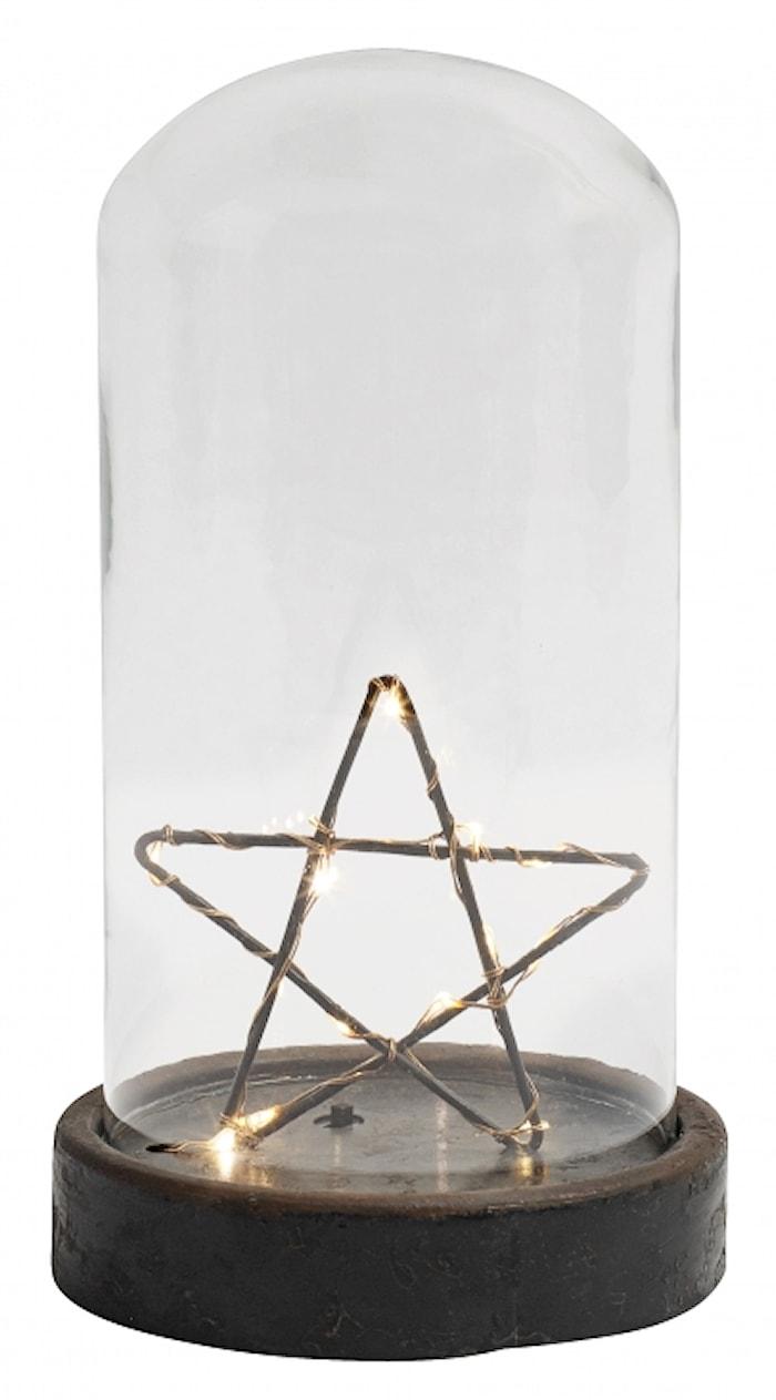 Dekorationsljus Glaskupol Stjärna