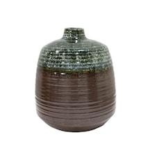 Blomstervase i Keramik Grøn/Brun