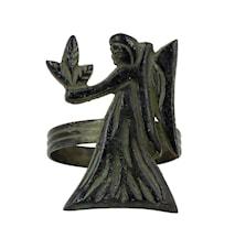 Stjärntecken Jungfru, brons, servettring