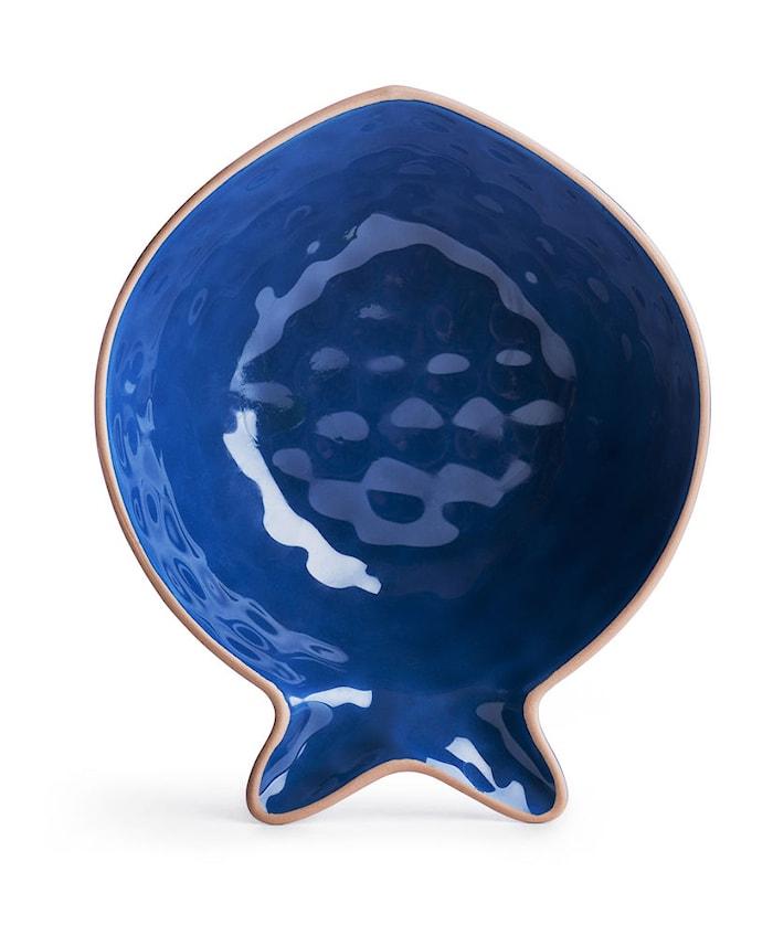 Fish serveringsskål blå Liten