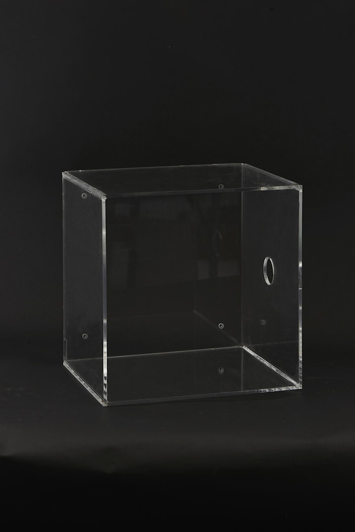 Veggboks Plexi 30x25x30 cm - Klar