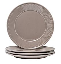 Fålhagen Assietter, 4-pak, 22,5 cm, Mørkegrå