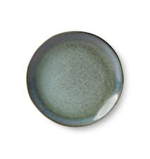 70's Dessert Tallerken Keramik Grøn 17,5 cm