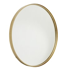 Rundt speil i jern - Gull