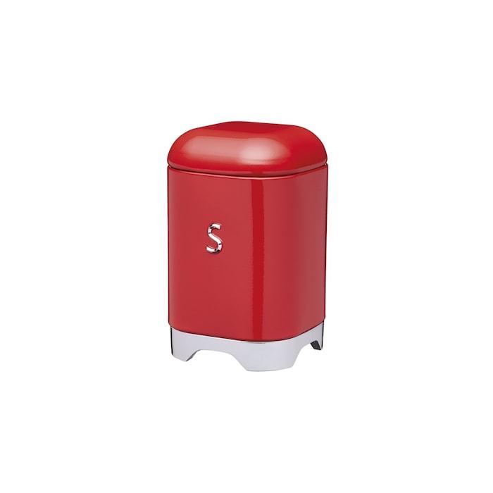 Förvaringsburk Stål S Röd 11x11x18 cm