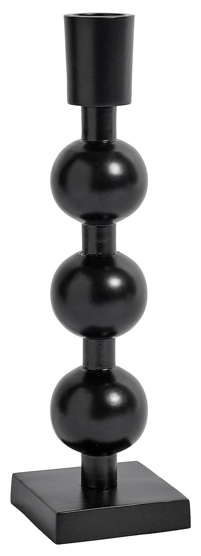 Ljusstake i järn 3 bollar 22 cm - Svart