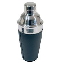 Shaker rostfritt i svart konstläder 5 dl