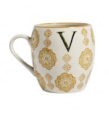 LETTER cup, V