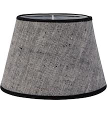 Oval Lampeskærm Linned Grå 15 cm