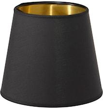 Queen Lampskärm Svart/Guld 10cm