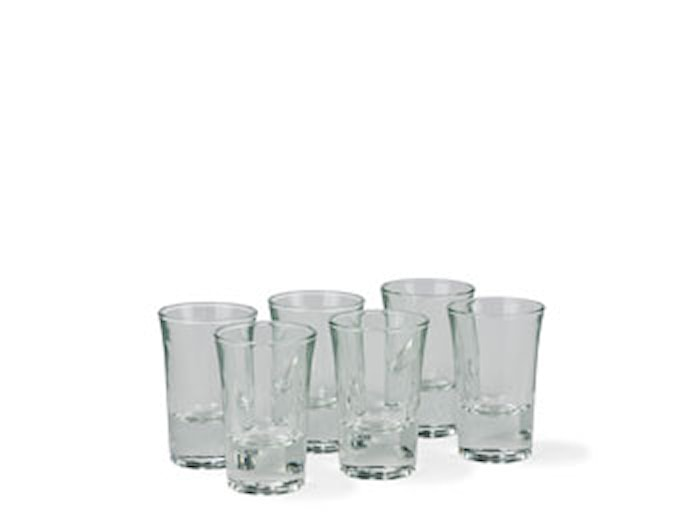 Shotglass 6st 3,5cl