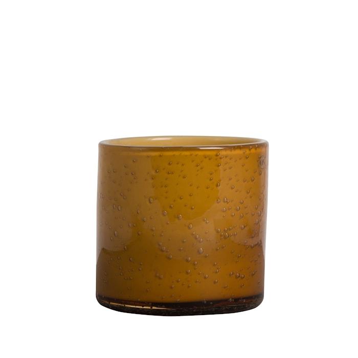 Vas/Ljuslykta Calore Orange h: 12 cm