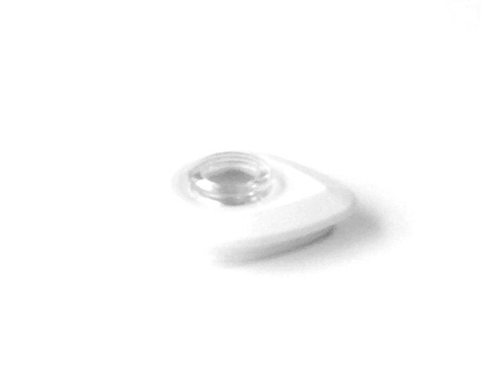 Lokk og dekke hvit/gjennomsiktig, til A