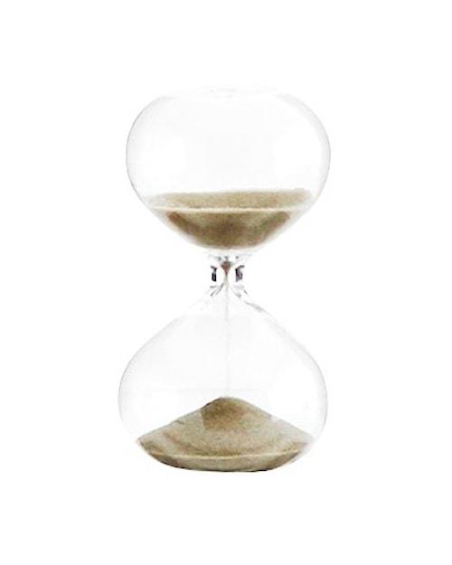 Timeglass Ø 5,5 cm - Lysebrun