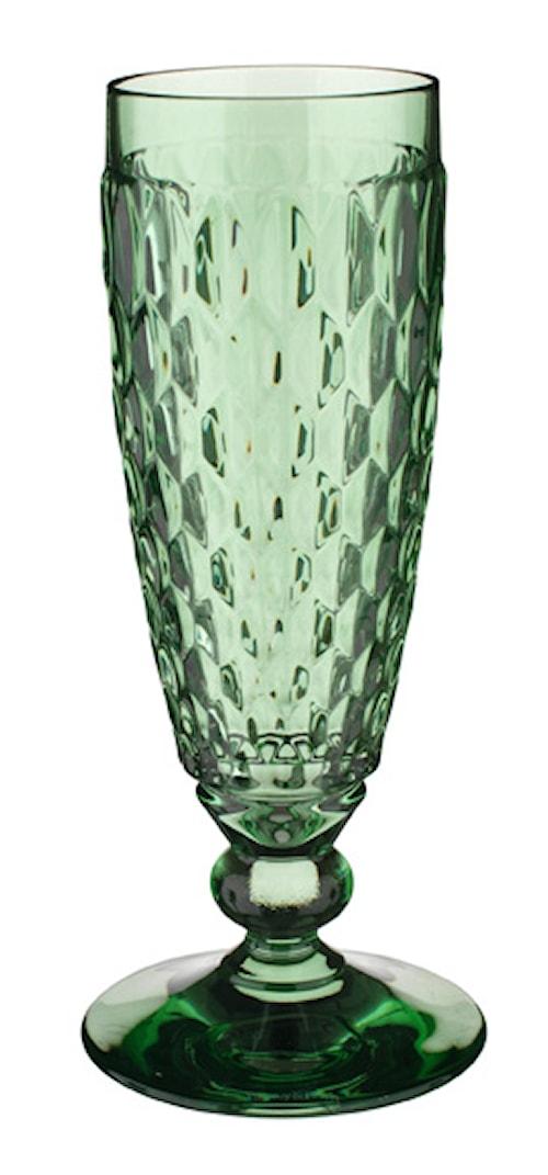 Boston coloured Champagneglas Grön