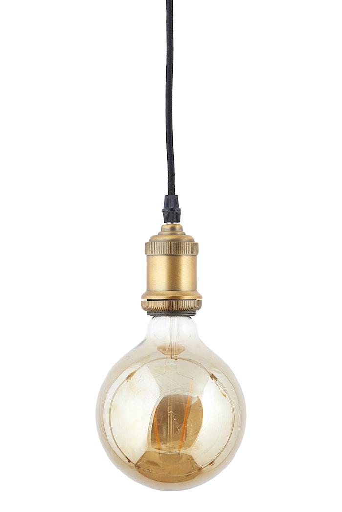 LED Lampa dimbar E27 17,5x12,5cm Grå