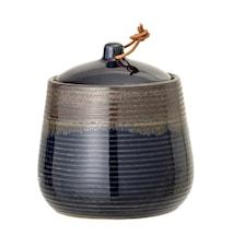 Jar w/Lid, Blue, Stoneware