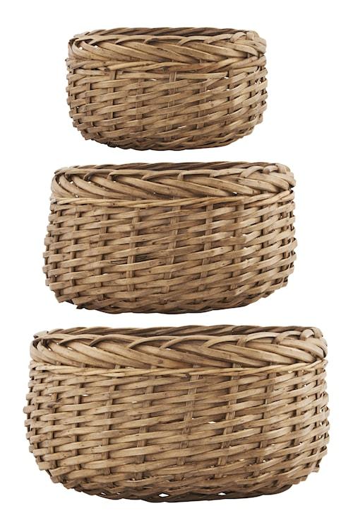 Kurv Baskets 3st - Natur