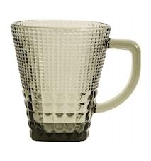 Glas med håndtag, col. røggrå
