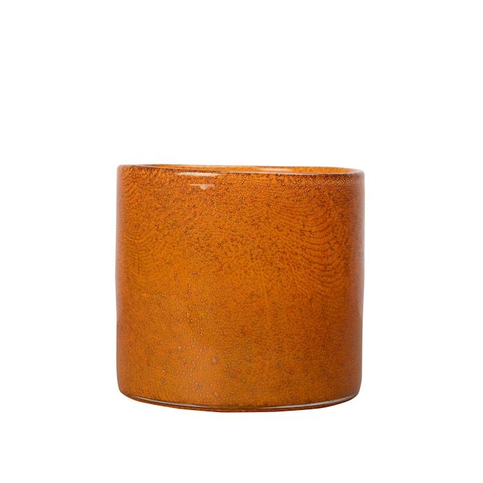 Vaasi/Kynttilälyhty Calore Oranssi 15 cm
