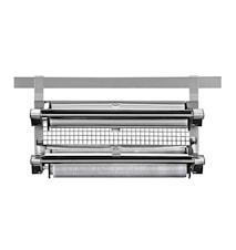 Köksfoliehållare till redskapslist dubbel stål 37 cm