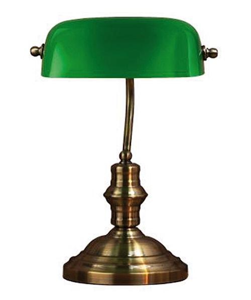Bankers Bordlampe Grønn 42 cm