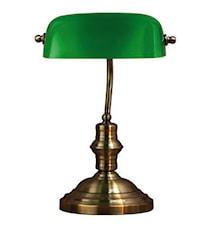 Bankers Bordslampa Grön 42 cm