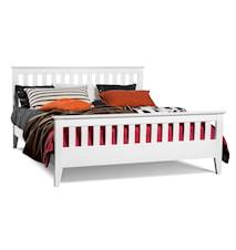 Smögen ribb säng - vitlack, 180 x 200