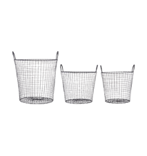 Wire Korg Svart 3-pakk