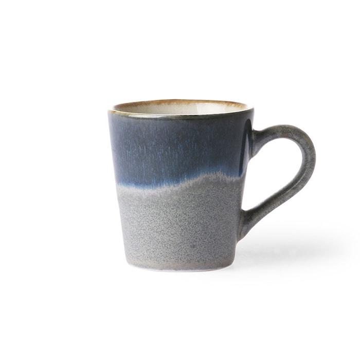 70's Espressokopp Grå och Blå 80 ml