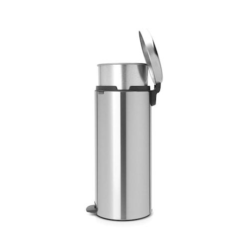 Pedalspand newIcon, metallinderspand 30 L Matbørstet Stål