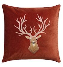 Reindeer Kudde Sammet Rost 50x50 cm