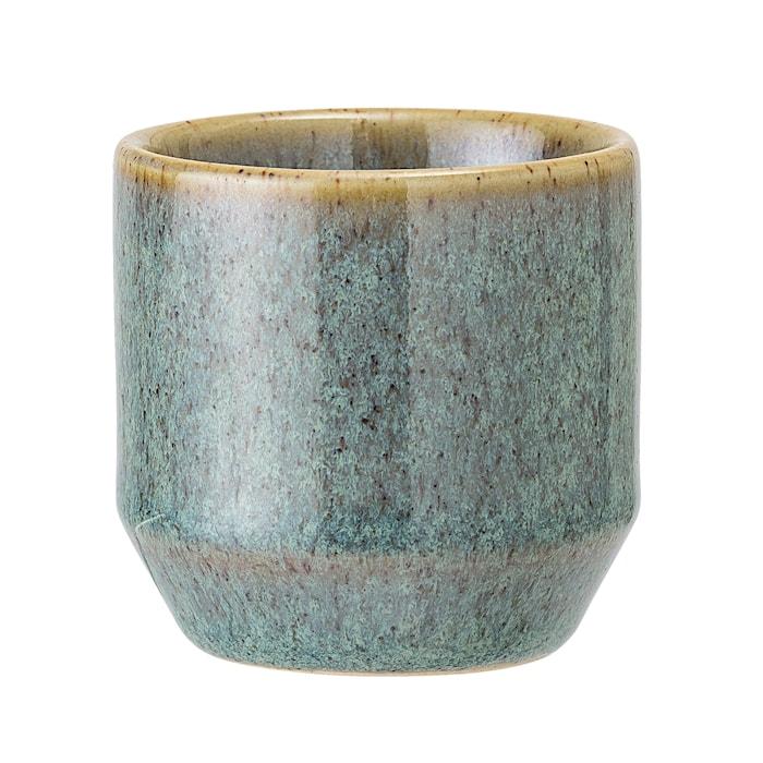 Telysholder Stoneware Green Ø8xH4