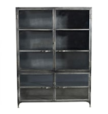 Iron glass cabinet vitrineskap