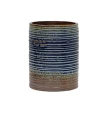Blomsterkrukke Keramik Blå og Brun 20 cm